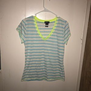White with blue strips shirt